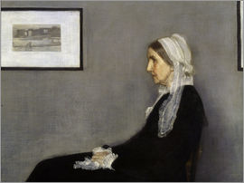 James Abbott McNeill Whistler - Die Mutter des Künstlers, Detail