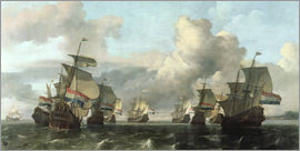 Ludolf Backhuysen - The Dutch Fleet of the India Company
