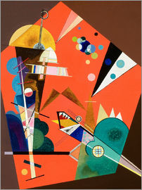 Wassily Kandinsky - Die Spannung in Rot