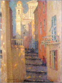 Henri Le Sidaner - The road to the church