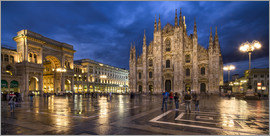 Jan Christopher Becke - Cathedral Square and Cathedral of Milan at night, Milan, Italy