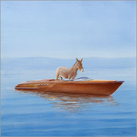Lincoln Seligman - Donkey in a Riva, 2010