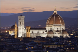 Stuart Black - Duomo at night from Piazza Michelangelo, Florence, UNESCO World Heritage Site, Tuscany, Italy, Europ