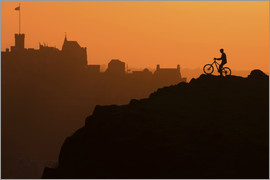 Tom Duffin - Edinburgh Castle and the lone cyclist