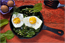 K&L Food Style - Eggs on spinach