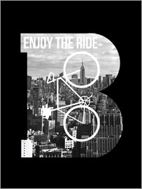Nory Glory Prints - Enjoy the ride - Fahrrad