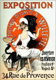 Jules Cheret - Exposition de A  Willette