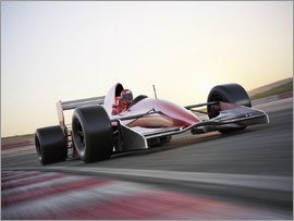 F1 racing car in motion