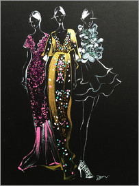 Rongrong DeVoe - Fashion Illustration inspired by Couture gowns  by Rongrong DeVoe