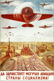Aircraft parade on Moscow