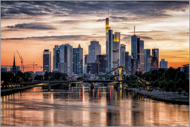 Kristian Sauer - Frankfurt am Main Sunset Skyline
