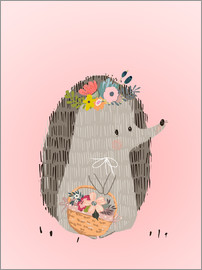 Kidz Collection - Mrs. hedgehog with basket