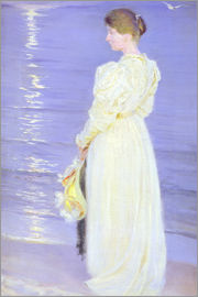 Peder Severin Kroyer - Frau in Weiß am Strand