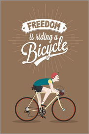 Typobox - Freedom is riding a bicycle