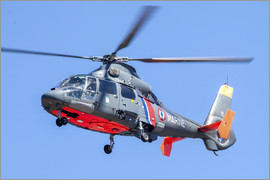 Timm Ziegenthaler - French Navy AS365 Dauphin helicopter in flight over France.