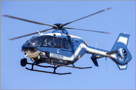 Timm Ziegenthaler - French police/gendarmerie EC135 helicopter in flight over France.