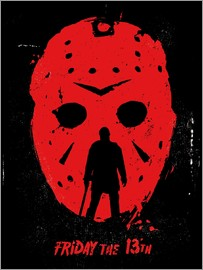 Golden Planet Prints - Friday the 13th film Jason movie inspired illustration