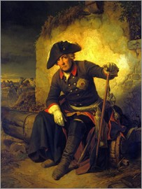 Julius Schrader - Friedrich II. After the battle of Kolin