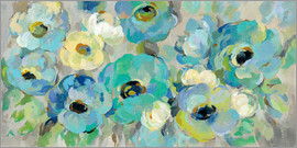 Silvia Vassileva - Fresh Teal Flowers