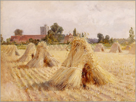 Hardy Heywood - Corn Stooks by Bray Church