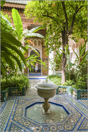 Nico Tondini - Garden of Bahia Palace (19th century), Unesco World Heritage site, Marrakech, Morocco, North Africa,