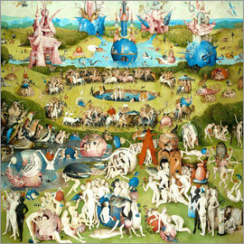 Hieronymus Bosch - Garden of Earthly Delights, mankind before the Flood