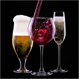 drinks - beer, wine and champagne