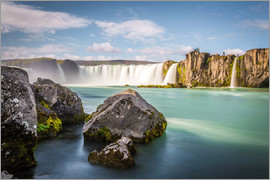 Click Alps - Godafoss, Myvatn, Iceland, the waterfall of the Gods in a sunny day