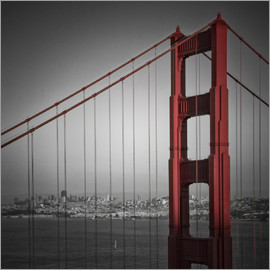 Melanie Viola - Golden Gate Bridge Downtown View