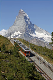 Hans-Peter Merten - Gornergrat Railway in front of the Matterhorn, Riffelberg, Zermatt, Valais, Swiss Alps, Switzerland,