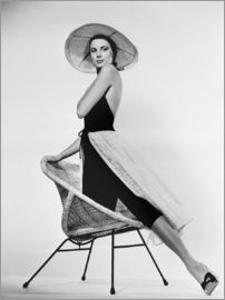 Grace Kelly mit Hut