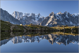 Roberto Sysa Moiola - Grandes Jorasses reflected in Lac De Cheserys, France