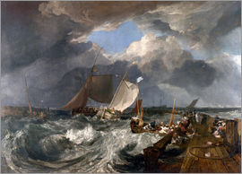 Joseph Mallord William Turner - Hafenmole von Calais Pier