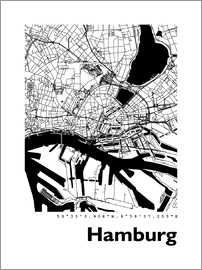 hamburg poster bestellen gratisversand posterlounge. Black Bedroom Furniture Sets. Home Design Ideas