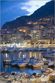 Christian Kober - Harbour in the Port of Monaco, Principality of Monaco, Cote d'Azur, Mediterranean, Europe