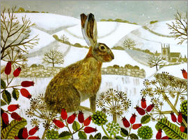 Vanessa Bowman - Hase im Winter