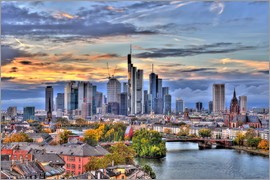 HADYPHOTO by Hady Khandani - HDR   FRANKFURT MAIN SKYLINE DURING TWILIGHT   GERMANY 2