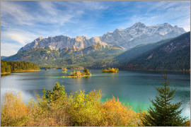 Michael Valjak - Autumn at the Eibsee with a view to the Zugspitze