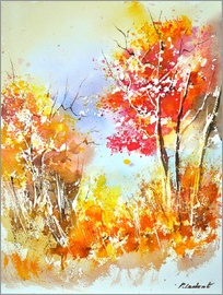 Pol Ledent - herbstliches Aquarell