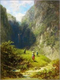 Carl Spitzweg - Hay harvest in the mountains