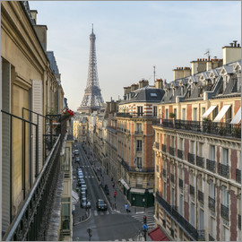 Jan Christopher Becke - Historic house facades and Eiffel Tower in Paris, France