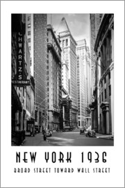Christian Müringer - Historisches New York Broad Street to Wall Street