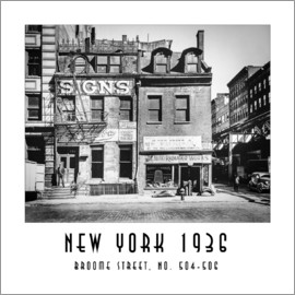 Christian Müringer - Historisches New York - Broome Street