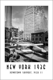 Christian Müringer - Historisches New York, Downtown Skyport, Pier 11