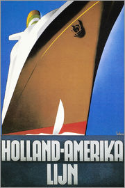 Wim ten Broek - Holländisches-Reise-Plakat