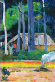 Paul Gauguin - Hütte in den Bäumen