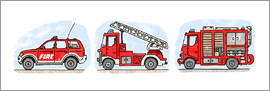 Hugos Illustrations - Hugos fire department set
