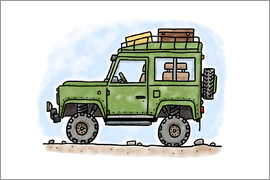 Hugos Illustrations - Hugos Jeep