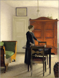 Vilhelm Hammershoi - Ida in an Interior