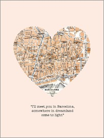 Nory Glory Prints - I'll meet you in Barcelona - Romantik Typo